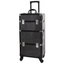 Βαλίτσα μακιγιάζ αισθητικής Τρόλεϊ Με Στρας TC- 3360R Μαύρη