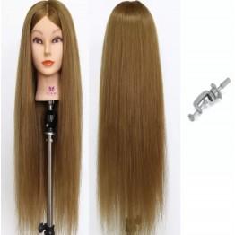 Εκπαιδευτική κούκλα με μακρύ μαλλί 65cm  •:αρκετά πυκνή : φυσική Με βαση