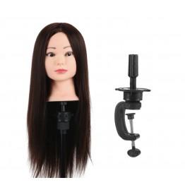 Εκπαιδευτική κούκλα με μακρύ μαλλί •με βάση  Ποιότητα τρίχας  : Συνθετική ΑΑ αρίστης ποιότητας 55/60 cm