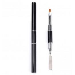 Εξειδικευμένο εργαλείο διπλής χρήσης με ειδικό πινέλο για το gum  Gel από την μία πλευρά και κόφτη από την άλλη