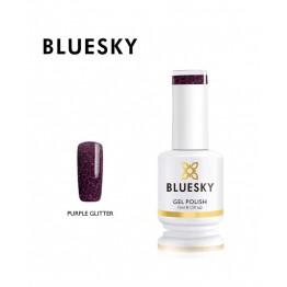 Ημιμόνιμο βερνίκι BLUESKY GEL POLISH 15ML PURPLE GLITTER